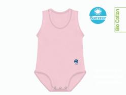 Body neonato estivo cotone biologico rosa
