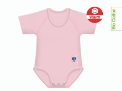 Body neonato caldo cotone bio tinta unita - Rosa