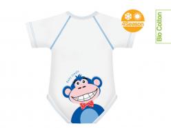 Body neonato cotone biologico - Scimmia