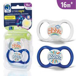 Ciucci ultraventilati Smile Night 16+ mesi - Pack Ronf... Azzurro/ZZZZ...