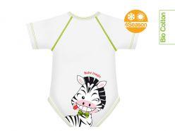 Body neonato cotone biologico - Zebra
