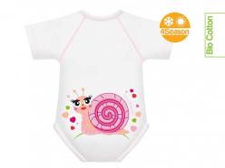 Body neonato cotone biologico - Chiocciola
