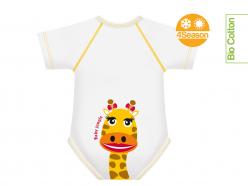 Body neonato cotone biologico - Giraffa