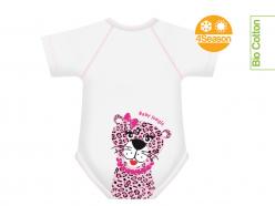 Body neonato cotone biologico - Leopardo