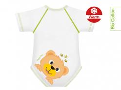 Body neonato caldo cotone bio - Orso