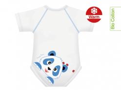 Body neonato caldo cotone bio - Panda
