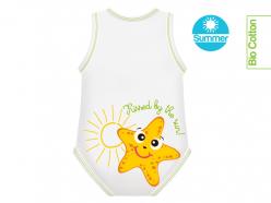 Body neonato senza maniche - Stella Marina