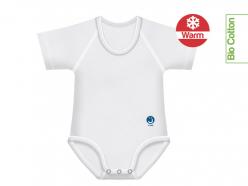 Body neonato caldo cotone bio tinta unita - Bianco